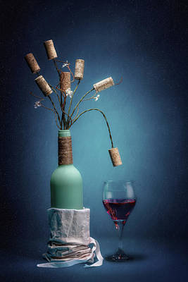 Wine Cork Bouquet Poster