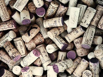 Wine Corks Poster by Bedros Awak