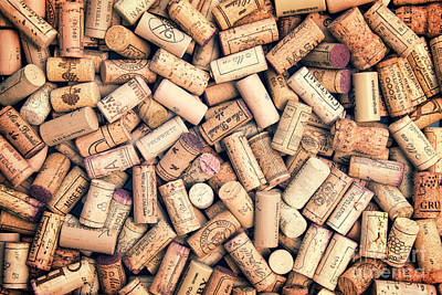 Wine Corks Poster by Delphimages Photo Creations