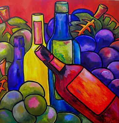 Wine In Orange Poster by Patti Schermerhorn