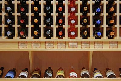 Wine Rack - 1 Poster by Nikolyn McDonald