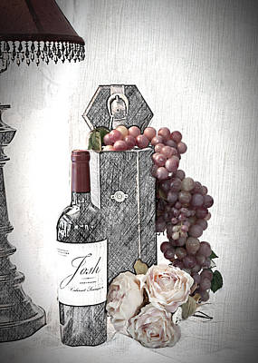 Poster featuring the photograph Wine Tasting Evening by Sherry Hallemeier