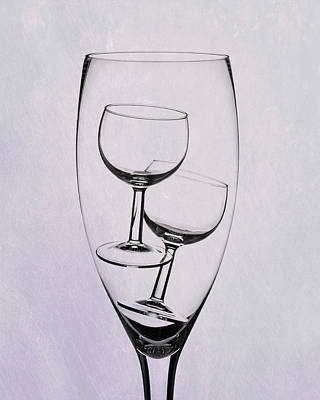 Wineglass Trio Poster by Tom Mc Nemar