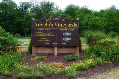 Winery Anyela's Vineyard Skaneateles New York Signage Poster by Thomas Woolworth