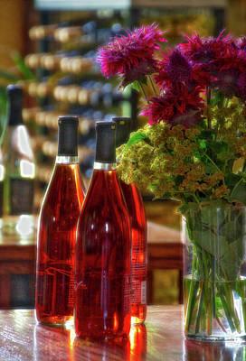 Winery Anyela's Vineyard Skaneateles New York Wine Bottles Pa 02 Poster by Thomas Woolworth