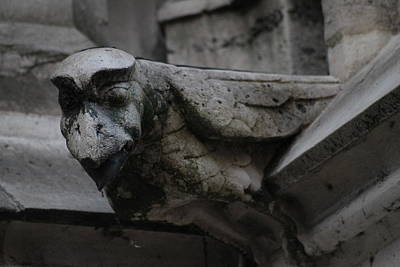 Poster featuring the photograph Winged Gargoyle by Christopher Kirby