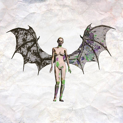 Winged Vixen Pop Art By Mary Bassett Poster