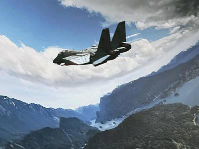 Wingman View Poster by Dorian Dogaru