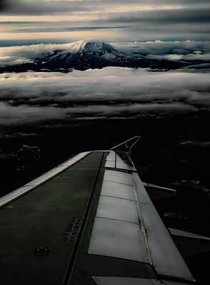 Wings Over Rainier Poster by Jeffrey Jensen