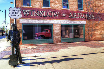 Winslow Arizona Poster by Donna Kennedy