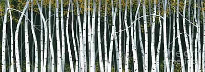 Poster featuring the painting Winter Aspen 3 by Michael Swanson
