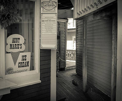 Winter At Aunt Marie's Ice Cream Stand Poster