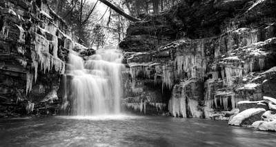 Winter At Big Falls  Poster by Lori Deiter
