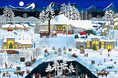 Winter At Black Butte Poster by Jennifer Lake
