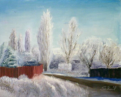 Poster featuring the painting Winter At Bonanza by Sherril Porter