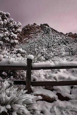 Poster featuring the photograph Winter At Garden Of The Gods by Ellen Heaverlo