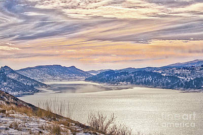 Winter At Horsetooth Reservior Poster
