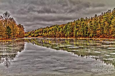 Winter At Pine Lake Poster