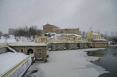 Winter At The Fairmount Waterworks In Philadelphia Poster by Bill Cannon