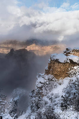 Poster featuring the photograph Winter At The Grand  Canyon by Sandra Bronstein