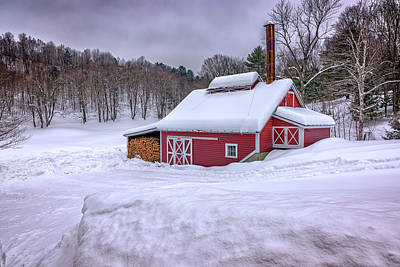Winter At The Maple Sugar Shack Poster