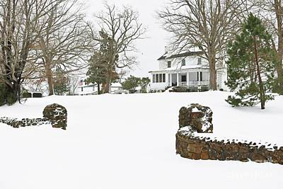 Winter At The Old Homeplace  Poster by Benanne Stiens