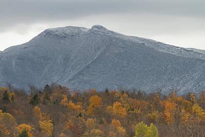 Winter Autumn Vermont Mount Mansfield Mountain Poster