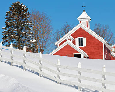 Winter Barn Scenic Poster by Alan L Graham