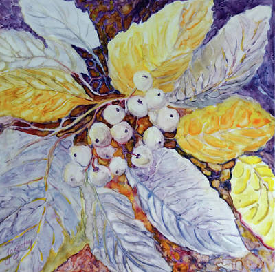 Poster featuring the painting Winter Berries by Joanne Smoley