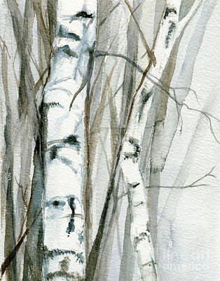 Winter Birch Poster by Laurie Rohner