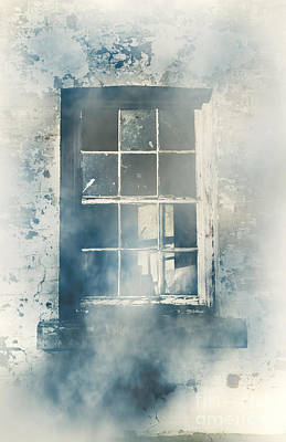 Winter Blues And Broken Windows Poster by Jorgo Photography - Wall Art Gallery