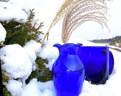 Poster featuring the photograph Winter Blues II by Randy Rosenberger