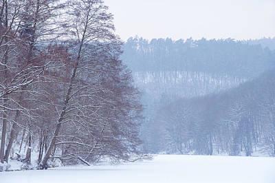 Winter Blues Poster by Jenny Rainbow