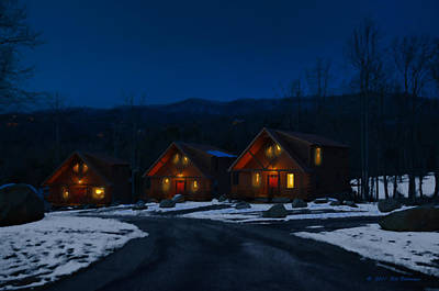 Winter Cabins Poster