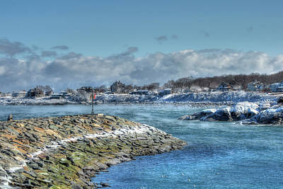 Winter Coastline - Rockport Ma Poster