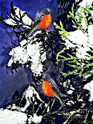 Winter Dream,oil Poster by Olga Lyakh