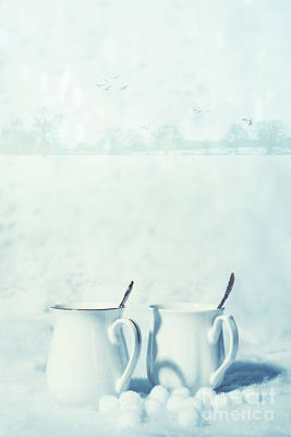 Winter Drinks In Snow Poster
