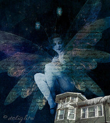 Poster featuring the digital art Winter Fairy by Delight Worthyn