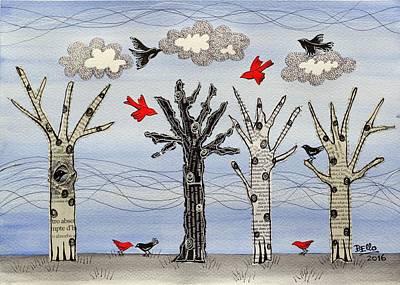 Winter Flights Poster by Graciela Bello