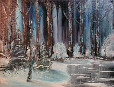 Winter Forest Poster by Larry Hamilton