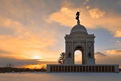 Winter Gettysburg Sunrise Poster