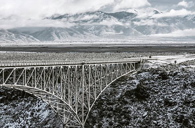 Poster featuring the photograph Winter Gorge Bridge  by Britt Runyon
