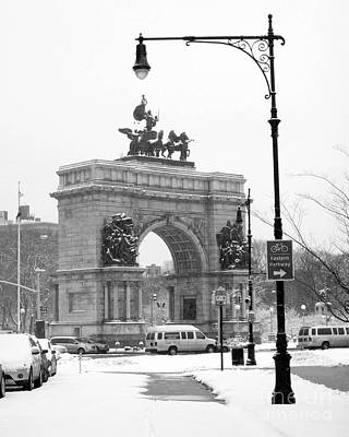 Winter Grand Army Plaza Poster