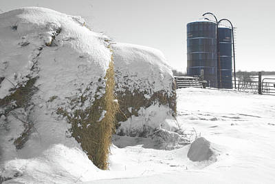 Winter Harvestore Poster by Dylan Punke