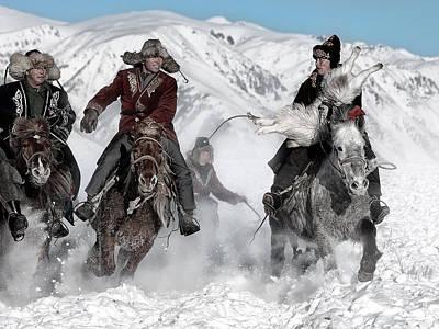 Winter Horse Race Poster