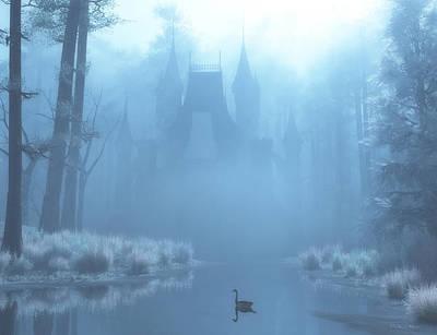 Winter In Blue Poster by Melissa Krauss
