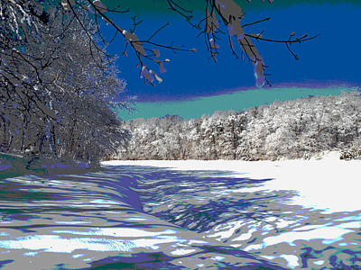 Winter In New England Poster by Dianne Cowen
