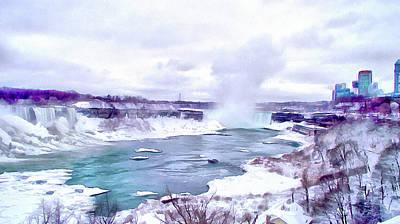 Winter In Niagara 1 Poster