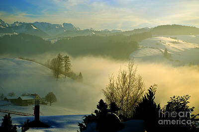 Winter In Switzerland Poster