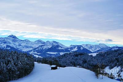 Winter In Switzerland - The Santis Mountain Poster